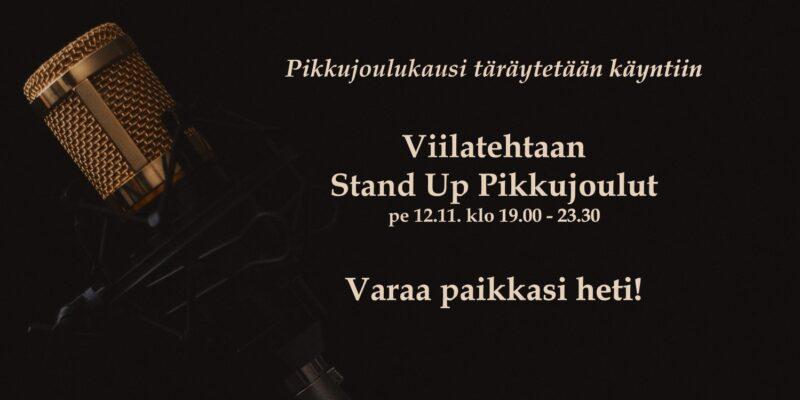 Viilatehtaan Stand Up Pikkujoulut 12.11.
